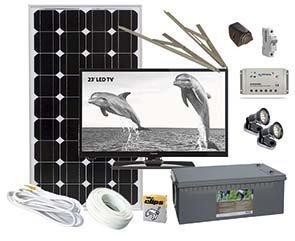 Aurinkopaneeli ja TV -paketti