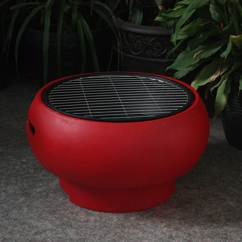 BBGrill Tub Kannettava grilli Punainen