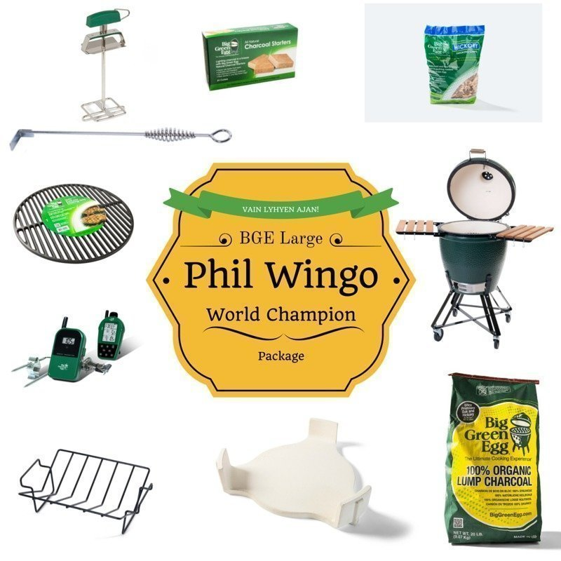 BGE L Phil Wingo BBQ World Champion package