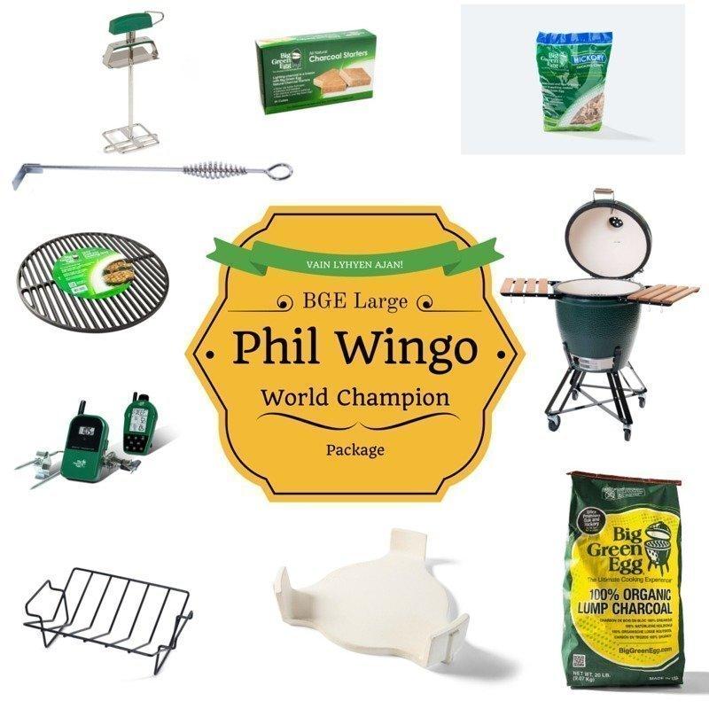 BGE L Phil Wingo BBQ World Champion package