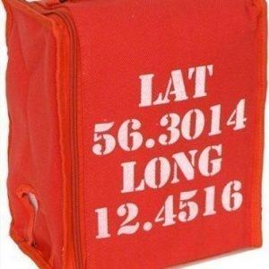 BoxinBag BiB lat red- Kylmälaukku kolmelle viinipullolle