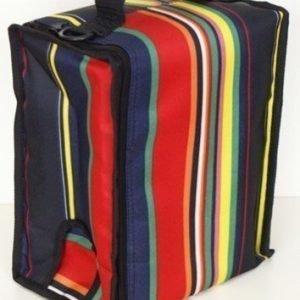 BoxinBag BiB stripe- Kylmälaukku kolmelle viinipullolle