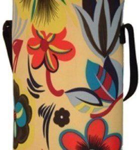 BoxinBag Duo flower- Erillinen laukku kahdelle pullolle