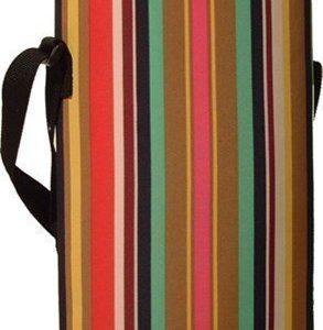 BoxinBag Duo stripe- Erillinen laukku kahdelle pullolle