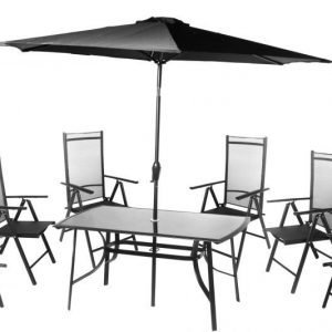 CASTLE terassikalusteet 6 tuolilla