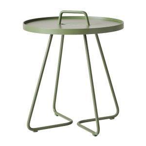 Cane-Line On-The-Move Pöytä Pieni Oliivinvihreä