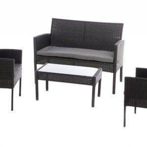 Dijon terassikalusteet sohva ja 2 tuolia ja pöytä