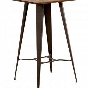 Ellos Malibu Pöytä Metallia / Puuta Ruskea 60x60 Cm