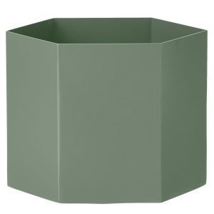 Ferm Living Hexagon Ruukku Xl Dusty Green