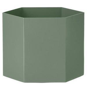 Ferm Living Hexagon Ruukku Xl Dusty Green