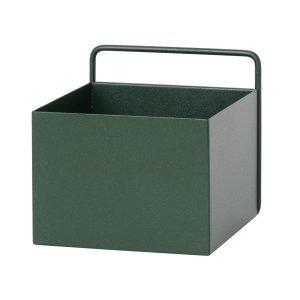 Ferm Living Wall Box Kukkalaatikko Kuutio Tummanvihreä