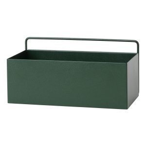 Ferm Living Wall Box Kukkalaatikko Suorakaide Tummanvihreä