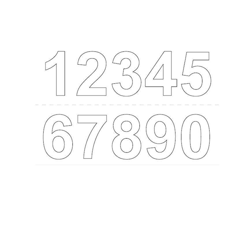 Habo GVINYL50 Numerot Valkoinen