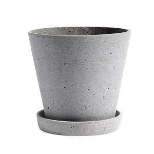 Hay Flowerpot Ruukku Ja Lautanen L Harmaa