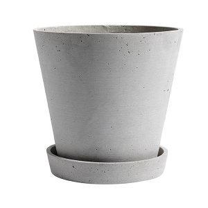 Hay Flowerpot Ruukku Ja Lautanen Xl Harmaa