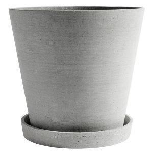 Hay Flowerpot Ruukku Ja Lautanen Xxxl Harmaa