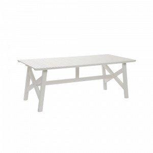 Hillerstorp Bullerö Pöytä Valkoinen 90x200 Cm