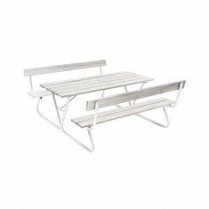 Hillerstorp Picnic Bastant Piknikpöytä Selkänojallinen Harmaa