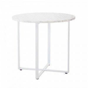 Jotex Maribo Pikkupöytä Valkoinen Ø 45 Cm