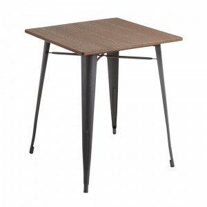 Julia Malibu Pöytä Metallia / Bambua Ruskea 80x80 Cm