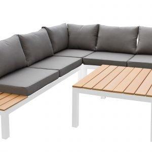 Koodi Relax Kulmasohva Ja Pöytä Valkoinen Beige