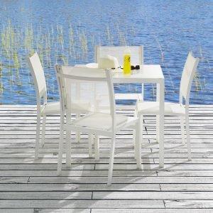 Koodi Ruokaryhmä 4:Lle: Pöytä Ja 4 Tuolia Valkoinen