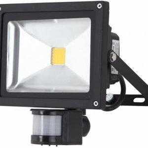 LED valonheitin 230V WORK BLACK 30W 4500K liiketunnistimella