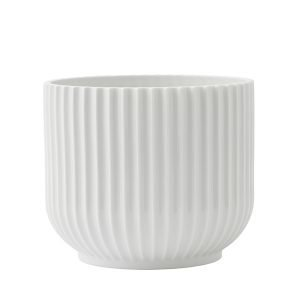 Lyngby Porcelain Kukkaruukku Keskikokoinen Valkoinen