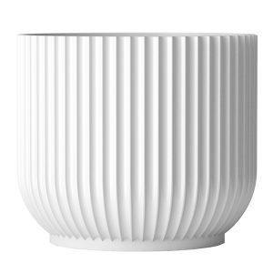Lyngby Porcelain Kukkaruukku Suuri Valkoinen