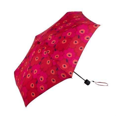 Marimekko Mini Unikko Sateenvarjo Punainen-Tummanpunainen