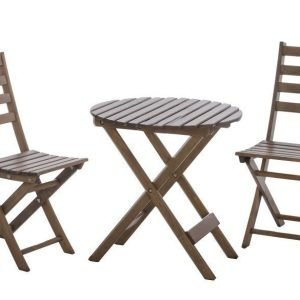 Parvekesetti Hanko 2 tuolia ja pöytä