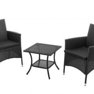 Parvekesetti Salla 2 tuolia ja pöytä