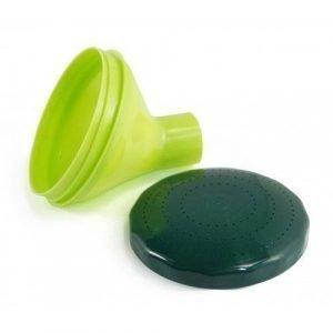 Plastex 10 L Puutarhakannun Suppilo Sihdillä