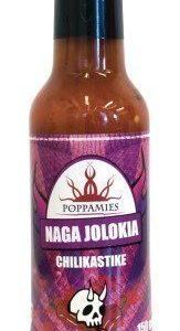 Poppamies Naga Jolokia erittäin tulinen chilikastike