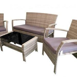 SAMOS Terassikalusteet 2 tuolia ja pöytä ja sohva