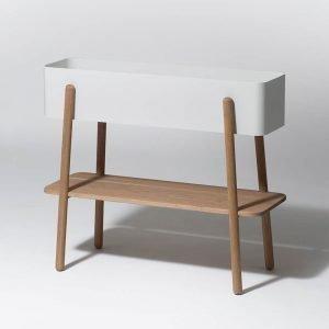 Smd Design Prunella Kukkaruukku Valkoinen / Tammi