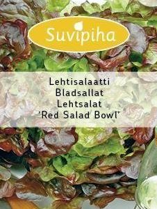 Suvipiha Lehtisalaatti Red Salad Bowl