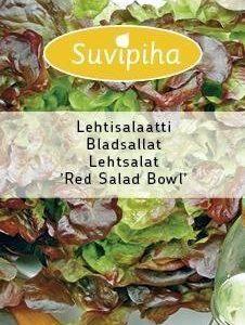 Suvipiha Lehtisalaatti Red Salad Bowl
