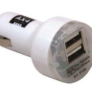 Tupla USB-autoadapteri 12/24V