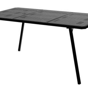 Varax Tuuli Puutarhapöytä Musta 84x150 Cm